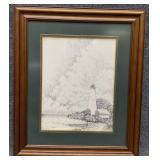Lighthouse Sketch Art Print