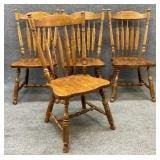 Set of 4 Keller Maple Dining Chairs