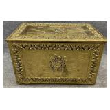 Brass Relief Wrapped Lift Top Chest