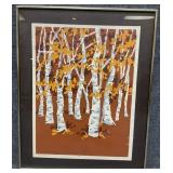 Mary Goslen S/N Autumn Birches Art