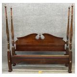 Kincaid King Size Mahogany Rice Carved Bed