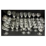 40pc Lenox Silver Rimmed Glassware Set