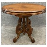 Antique Walnut Oval Center Table