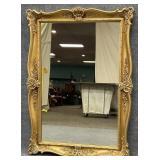Gold Frame Rectangular Mirror