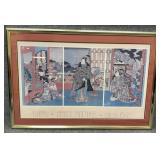 Kuniteru Japanese Printmaker Circa 1848 Poster