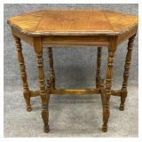 Antique Walnut 6 Leg Accent Table