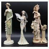 3pc Art Deco Flapper Figurines
