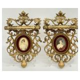 2pc Gold Cameo Creations Ladies Wall Sconce