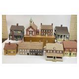 8pc Old Salem Series Christmas House Set