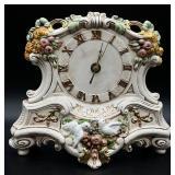Hand Painted Porcelain Mantel Clock