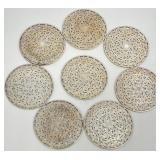 8pc Sterling Silver Wrapped Glass Coasters