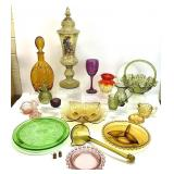 Asst Vintage Colored Glass Grouping