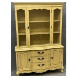 Distressed French Provincial China Cabinet