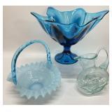 3pc Art Glass Grouping