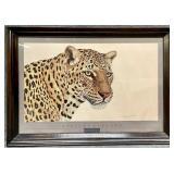 Large African Leopard Art Print Jacquie Marie Vaux