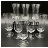8pc Curved Glassware Set