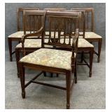 Set of 6 Mahogany Spade Foot Chairs