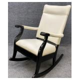 Antique Rocker with Modern Upholstery