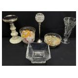 6pc Candle Holder / Glass / Crystal Decor