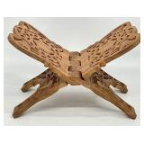 Carved Wood Book Stand