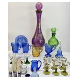 Vintage Colored Glass Grouping
