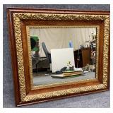 Antique Oak Frame Mirror