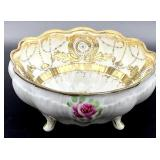 Nippon Hand Painted Moriage Rose Bowl