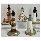 5pc Washington State Lighthouse Collection Lamps