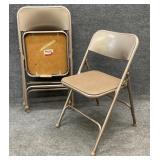 Set of 4 Samsonite Folding Metal Chairs