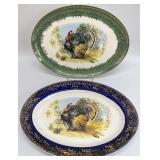 Pair Vintage Turkey Platters