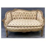 Antique French Tufted Back Settee