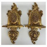 Gold Gilded Wall Plate Hangers