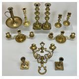 Brass Candlestick Grouping