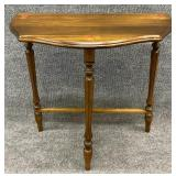 Small Walnut Rose Decorated Table
