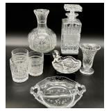 8pc Cut Crystal / Glass Grouping