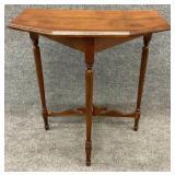 Antique Stretcher Base Accent Table
