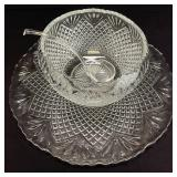 Extra Large Glass Punch Bowl