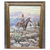 CM Russell Free Trapper Framed Art Print