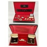 Vintage Cuff Links & More in 2 Cases