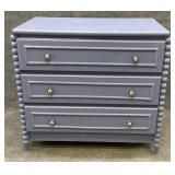 Blue Painted 3 Drawer Chest