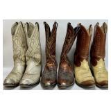 3 Pair Vintage Cowboy Boots