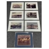 4pc Vintage International Framed Photography Group