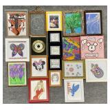 Large Group Vtg Framed Art Prints & More