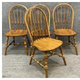 Four Ethan Allen Maple Dining Chairs