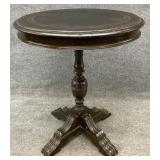 Antique Gothic Single Pedestal Accent Table
