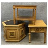 3 Assorted Vintage/Mid Century Accent Tables