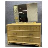 TLC Mid Century Dresser w/ Mirror
