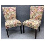Pair of Modern Decorator Accent Chairs