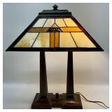Arts & Crafts Style Stained Glass Lamp