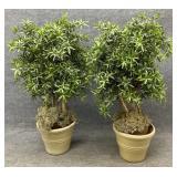 Pair of 4ft Faux Plants